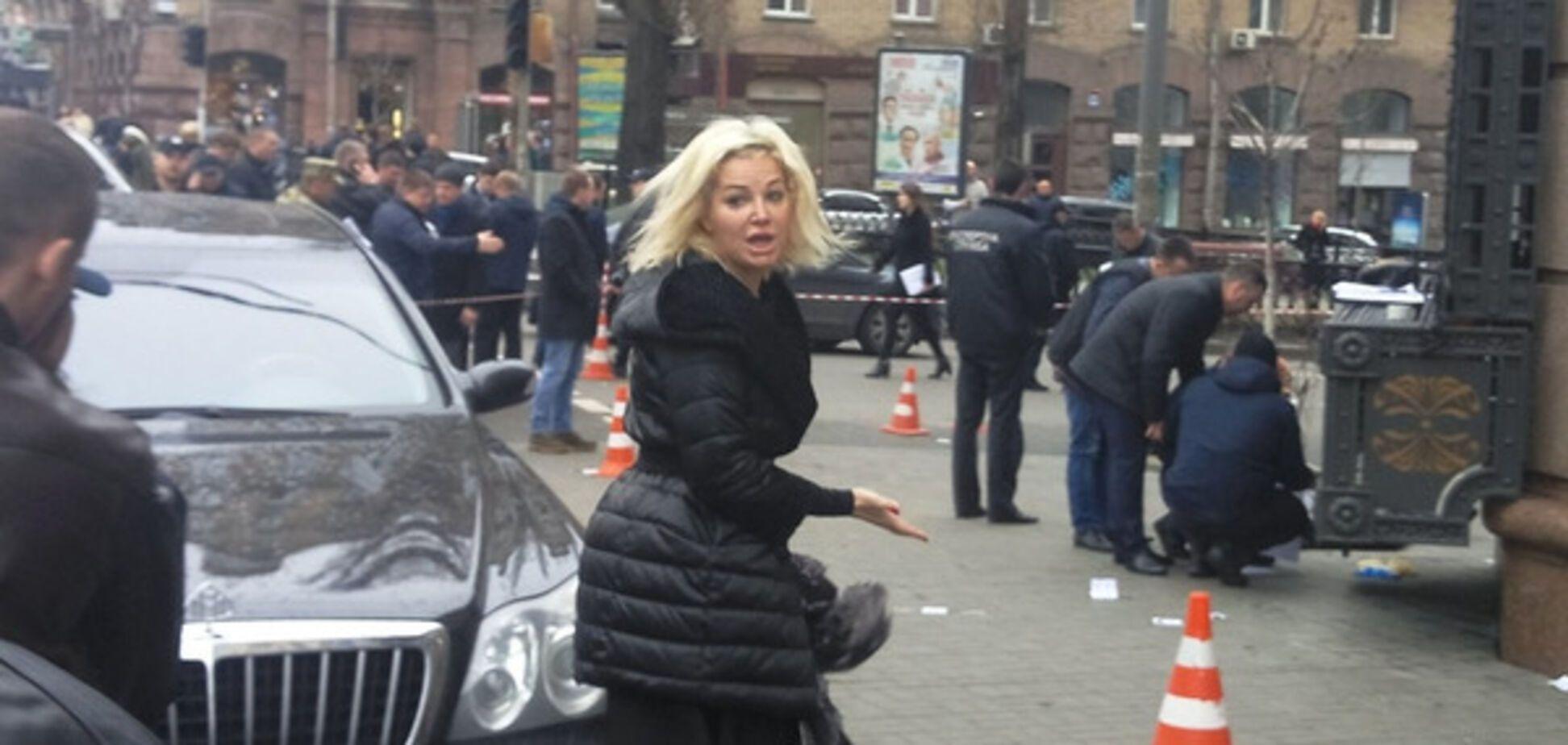 Мария Максакова на месте убийства