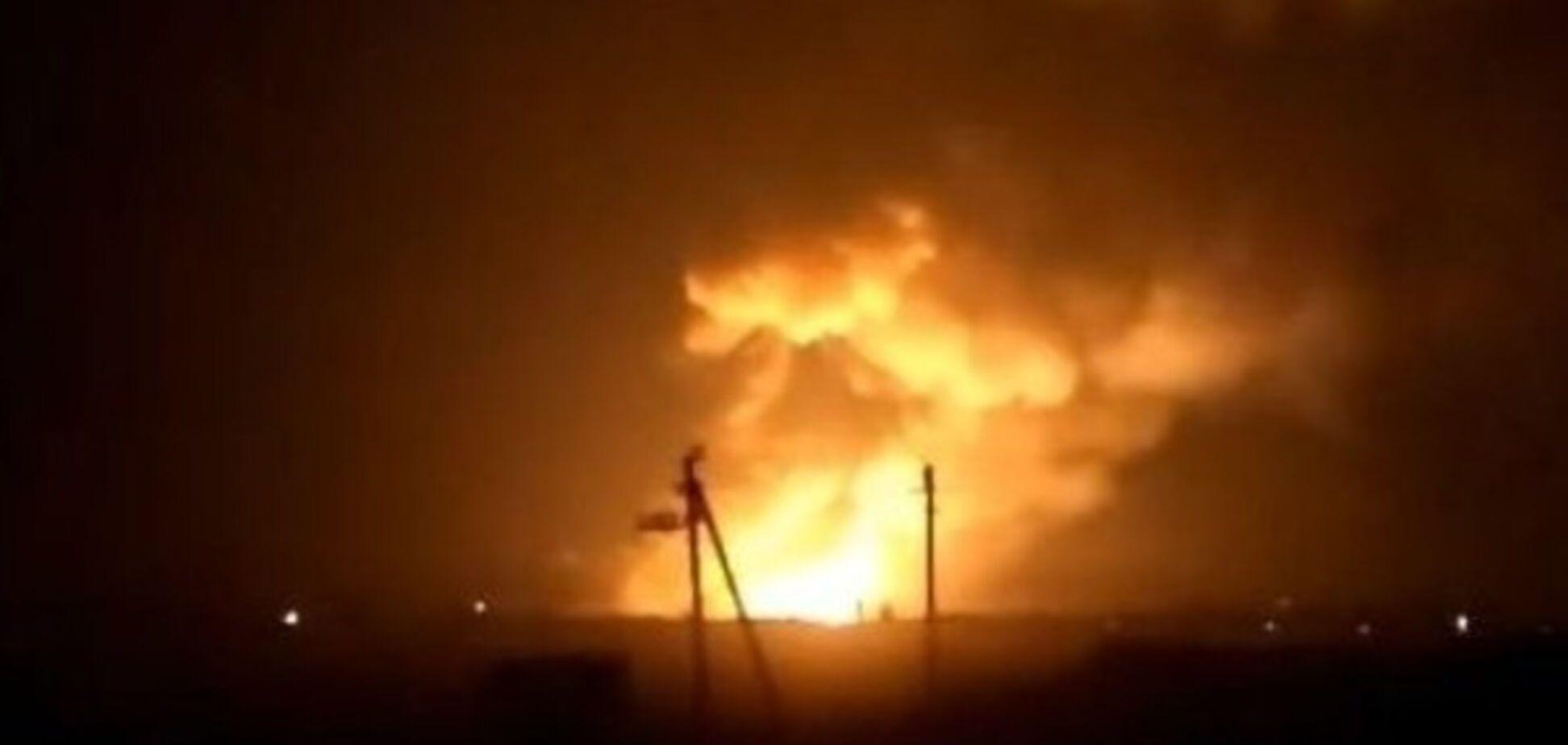 Пожар на военном складе в Балаклее
