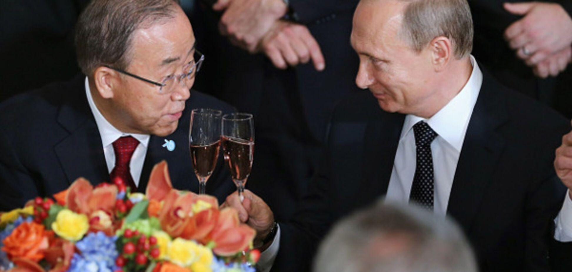 Пан Ги Мун и Путин