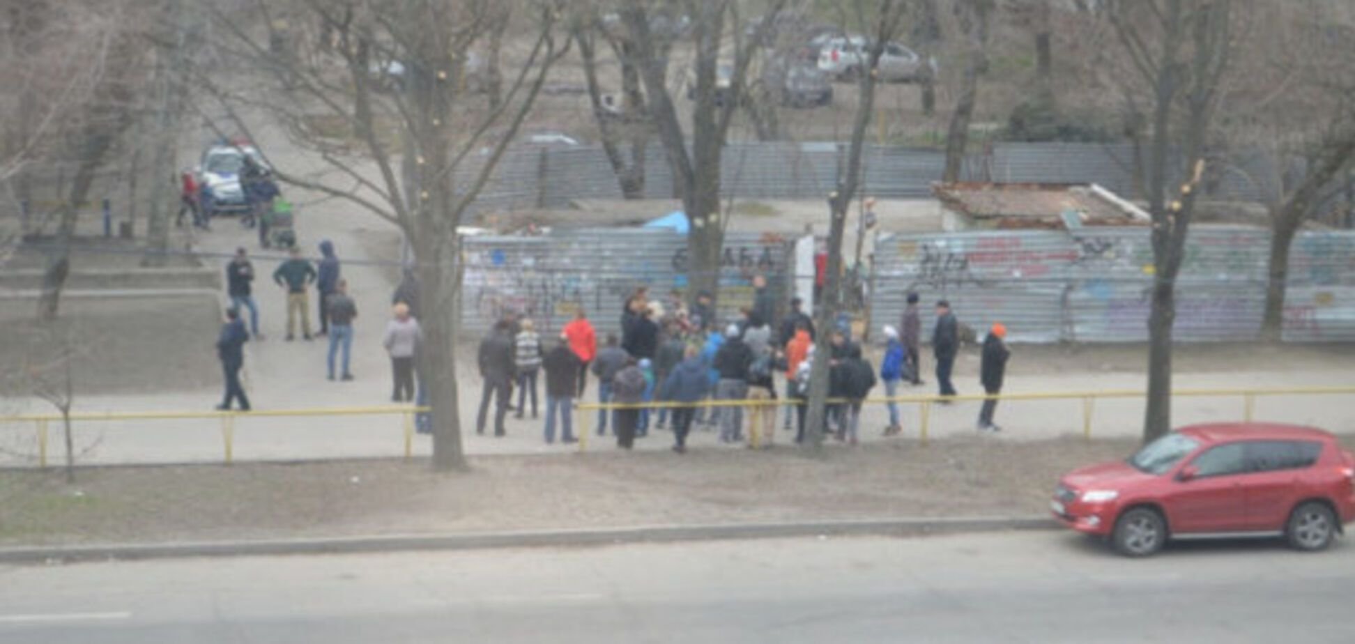 В Запорожье митинговали против пункта приема вторсырья