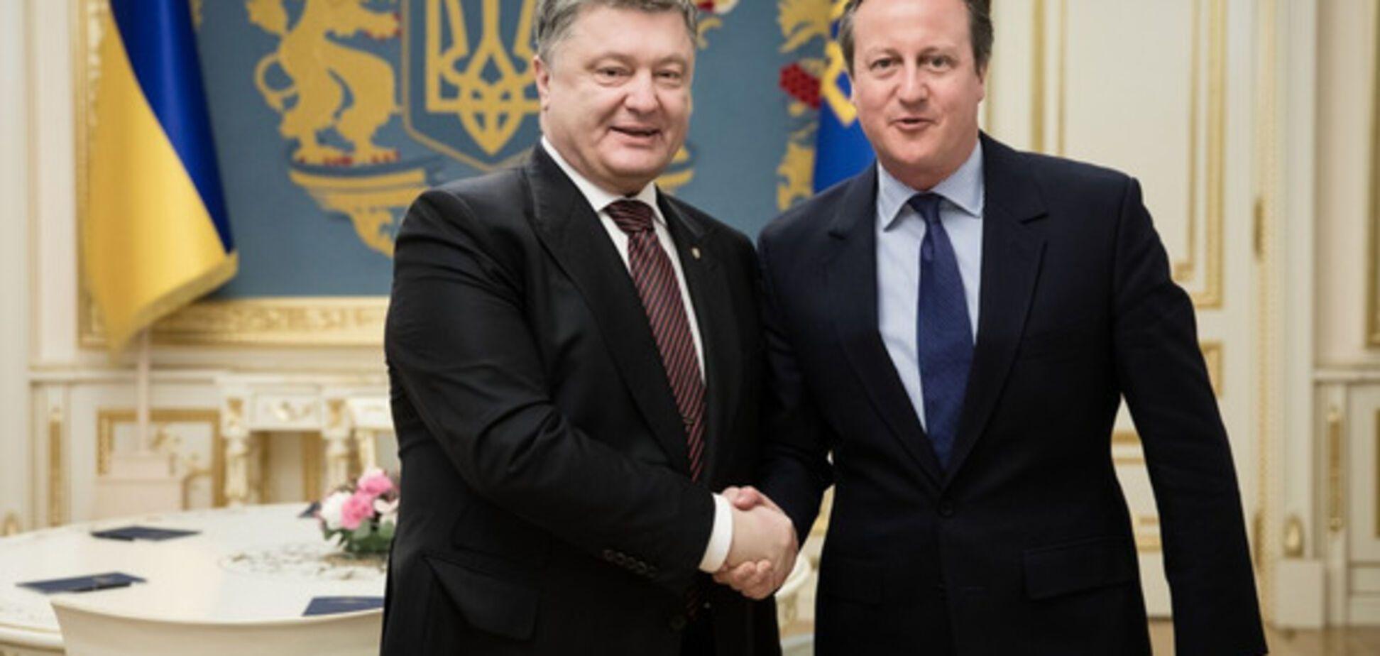 Порошенко и Кэмерон