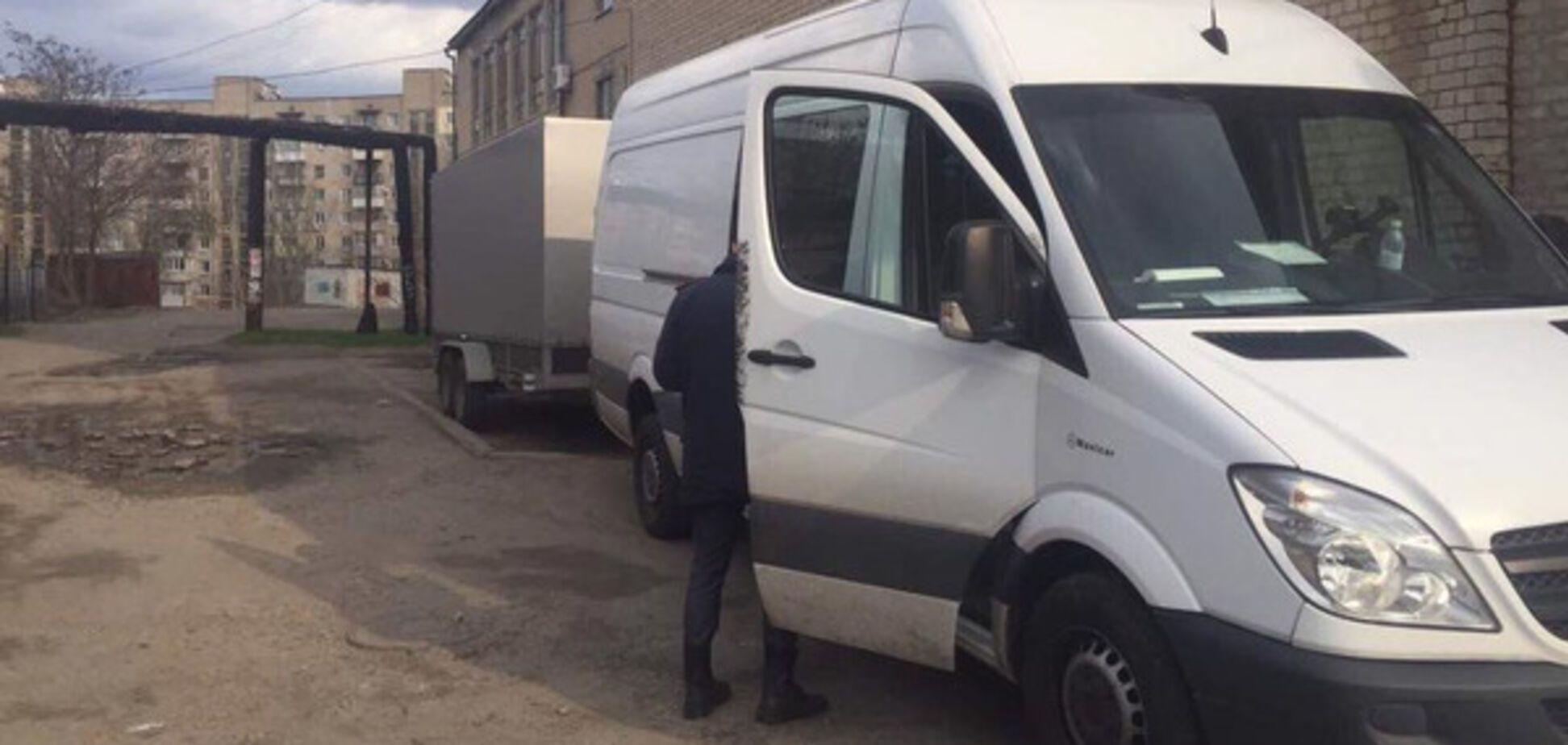 В Мелитополе обокрали машину Александра Пономарева (ФОТО)