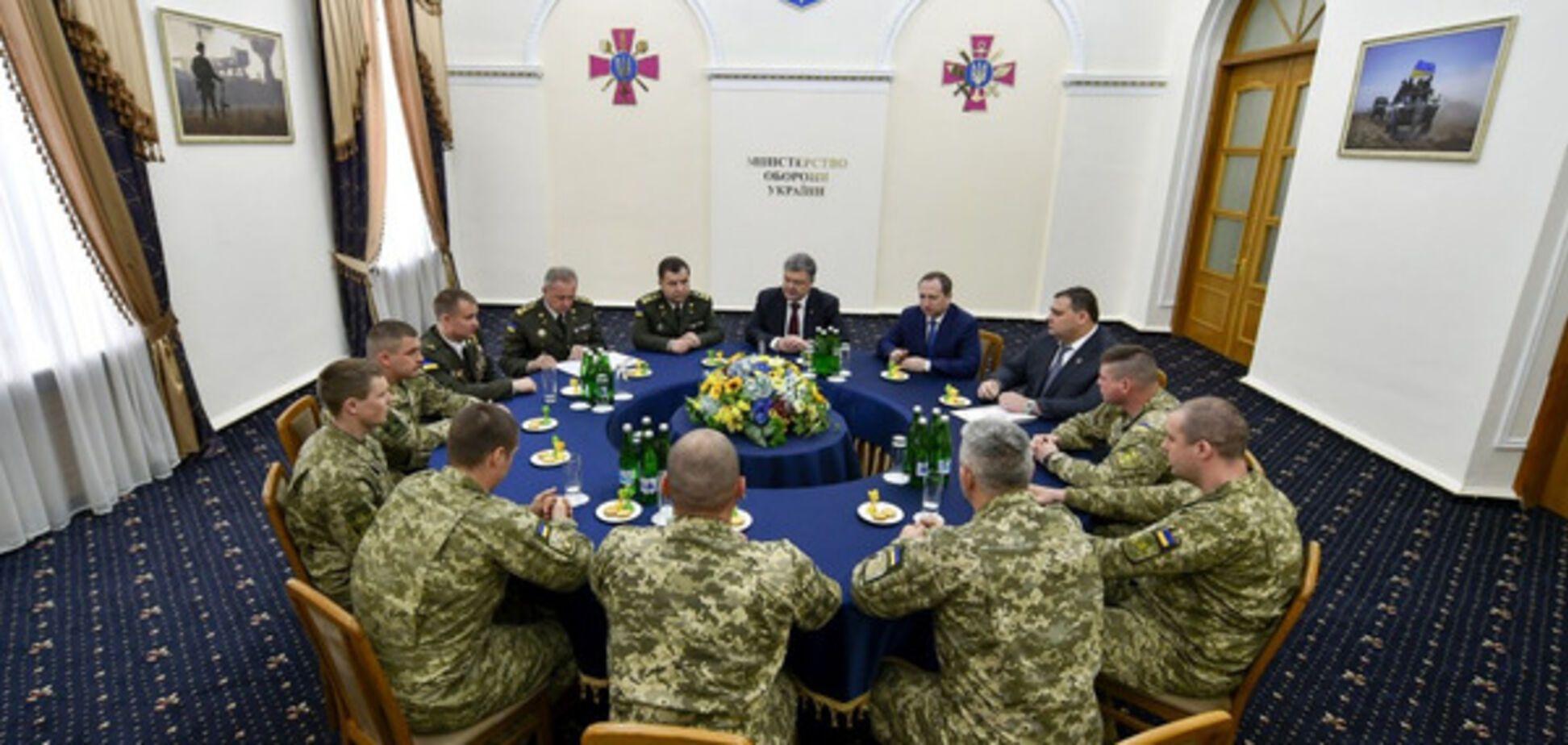 Встреча бойцов ВСУ и Порошенко