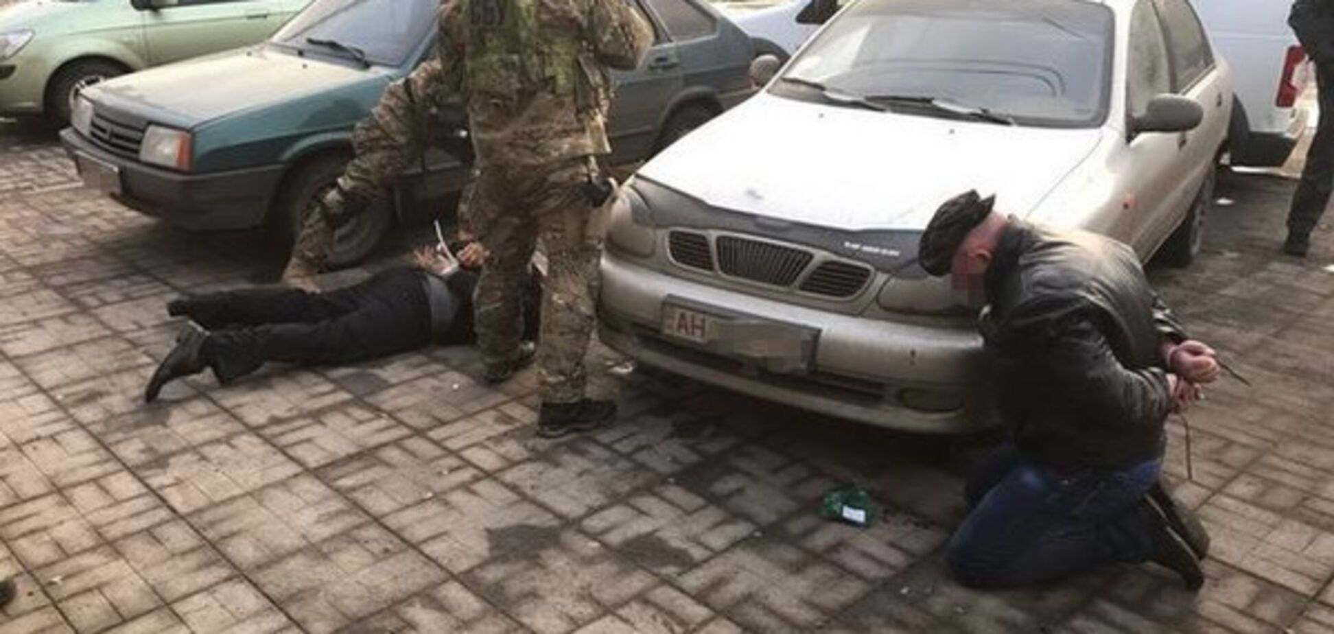 Задержание рэкетиров в Славянске