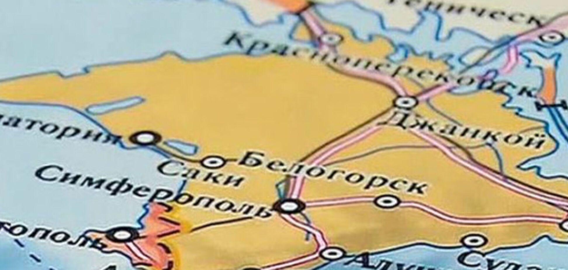 Крым карта