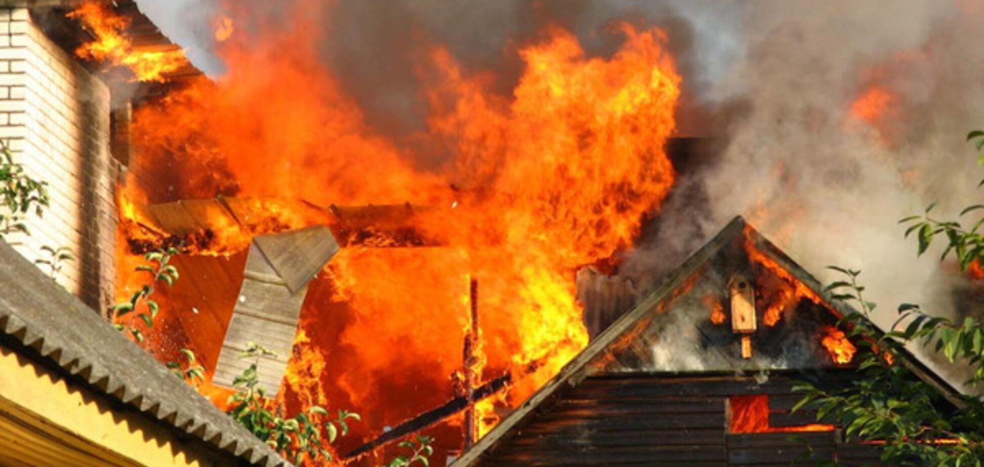 В Запорожье случился очередной пожар в частном домовладении