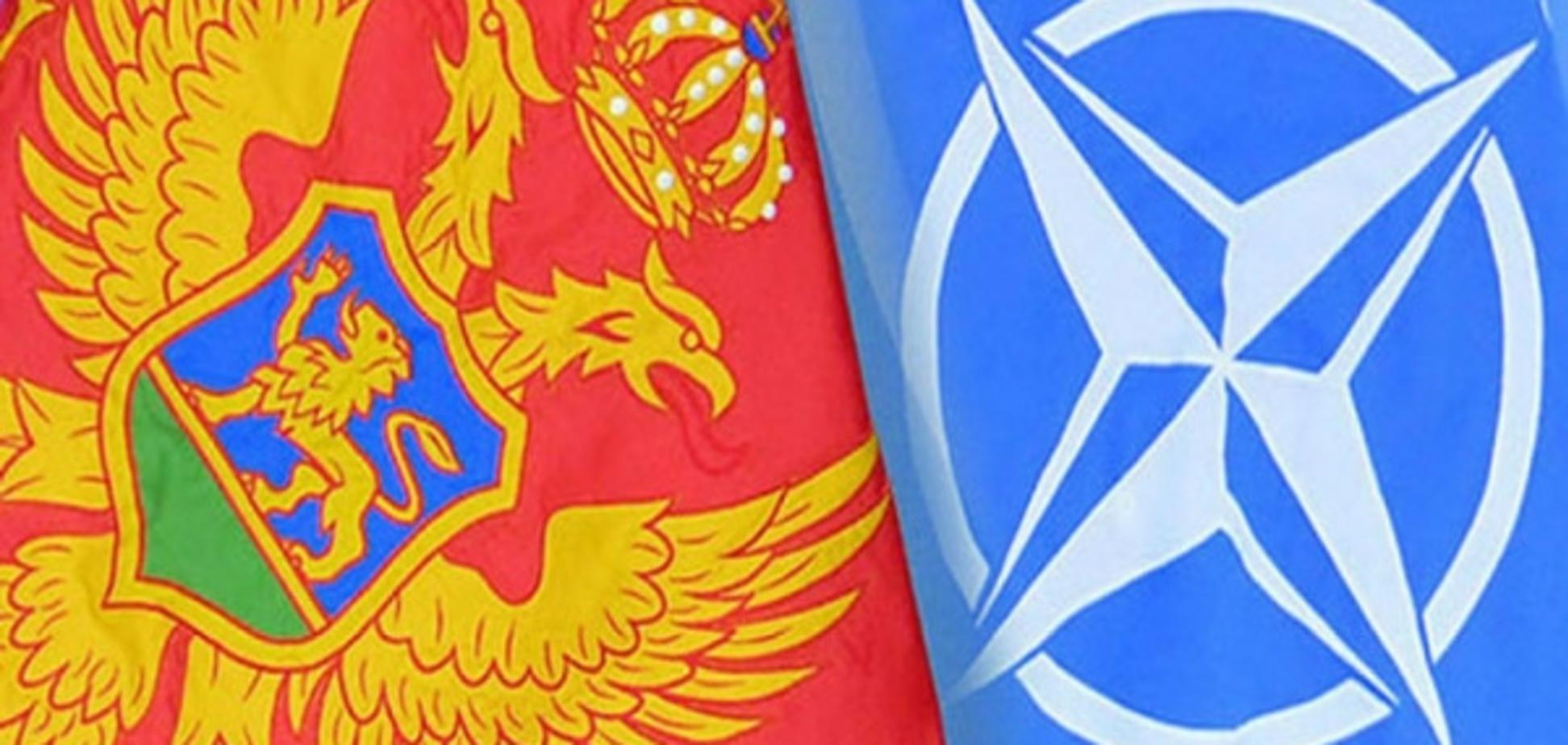 Прапори Чорногорії і НАТО