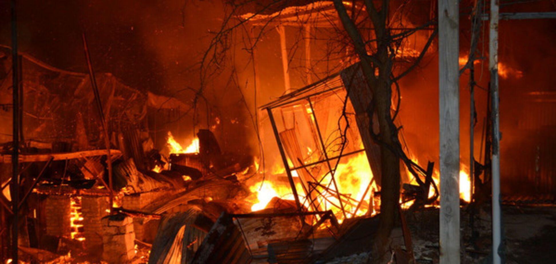 Пожар на причале в Одессе