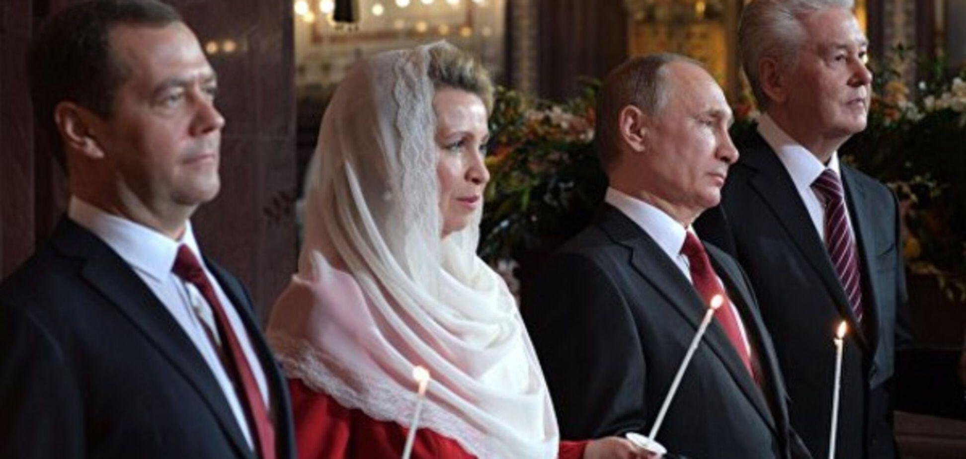 Путіна висміяли через його пару на пасхальній службі
