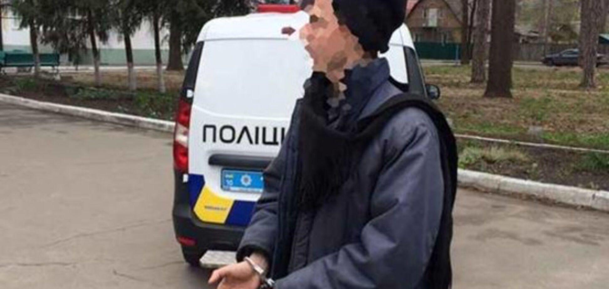 Готовил налет на банк: под Киевом задержали серийного грабителя
