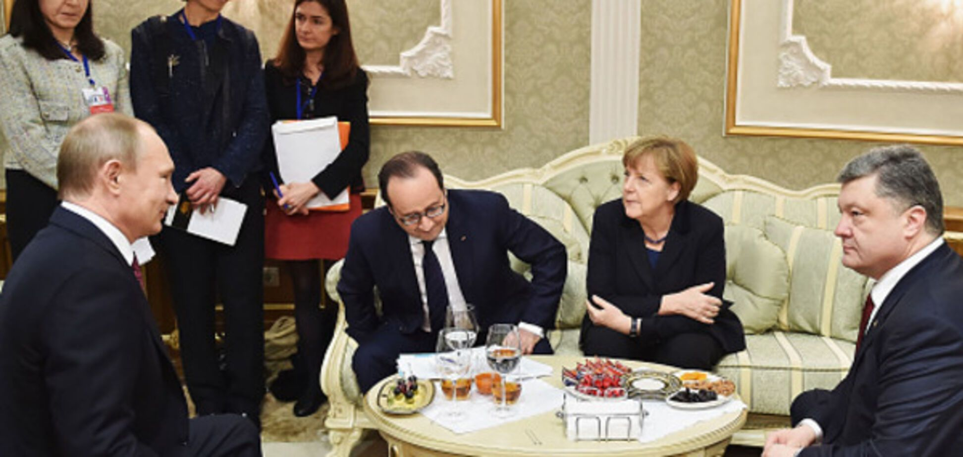 Путін, Олланд, Меркель, Порошенко