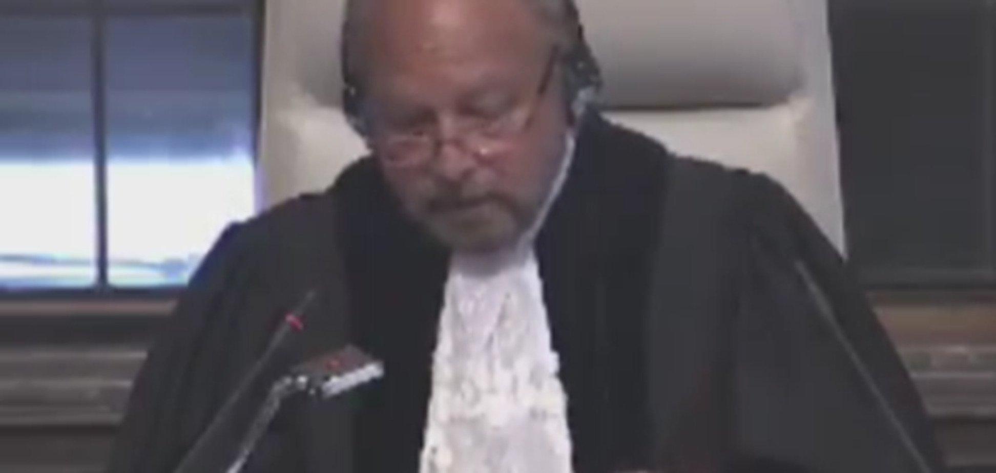 Голова Міжнародного суду ООН Суду Ронні Абрахам