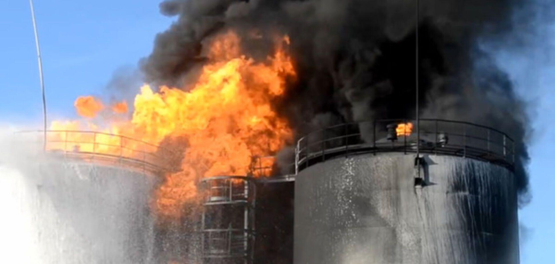 Взрыв на нефтебазе, иллюстрация