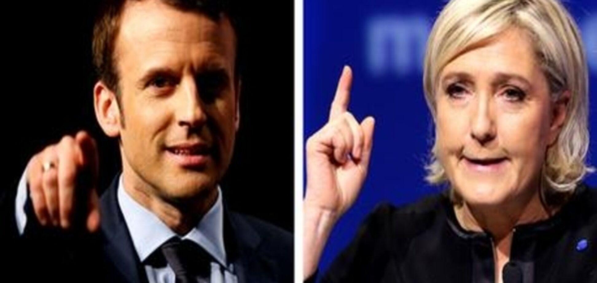 Макрон і Ле Пен виходять до другого туру виборів у Франції - екзит-поли