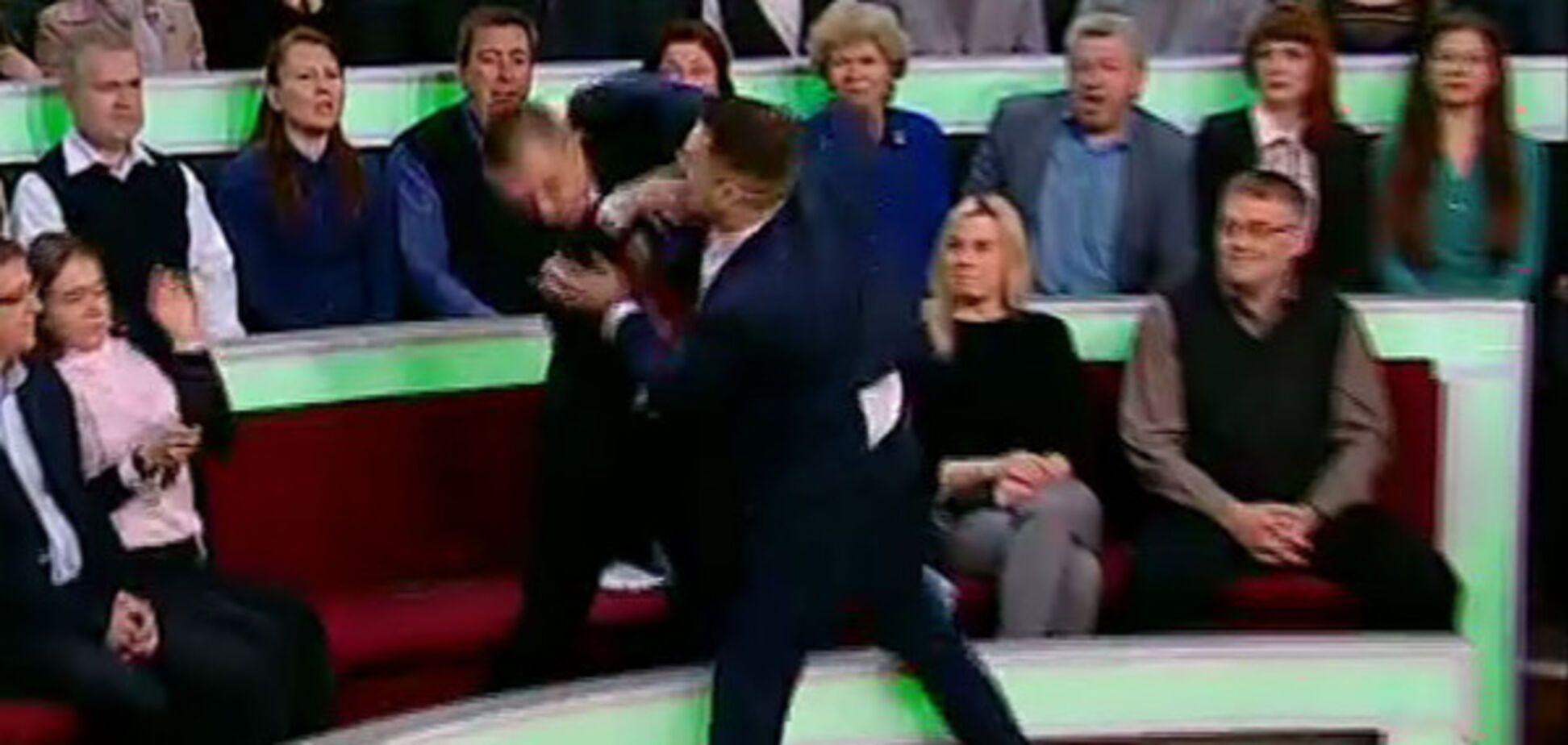 Бійка на НТВ