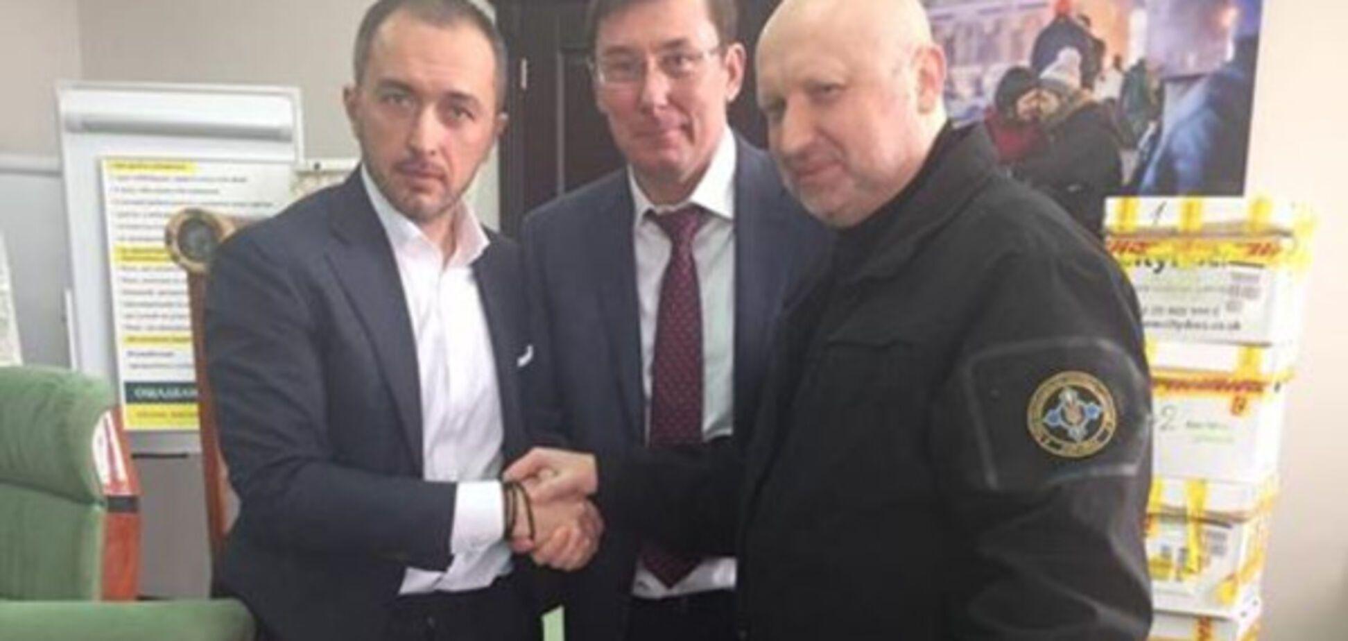 Юрій Луценко, Олександр Турчинов і Андрій Пишний