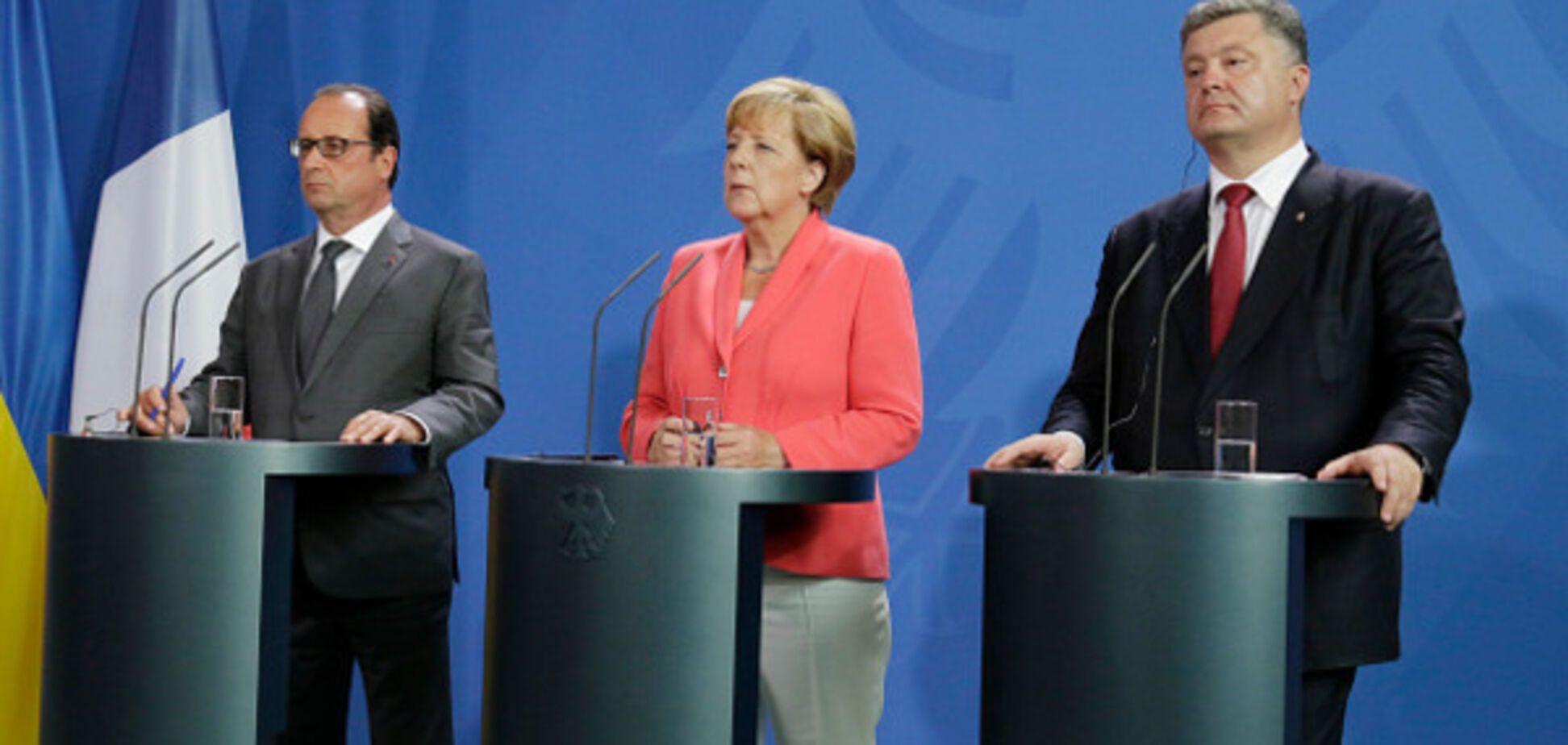 Меркель Порошенко Олланд