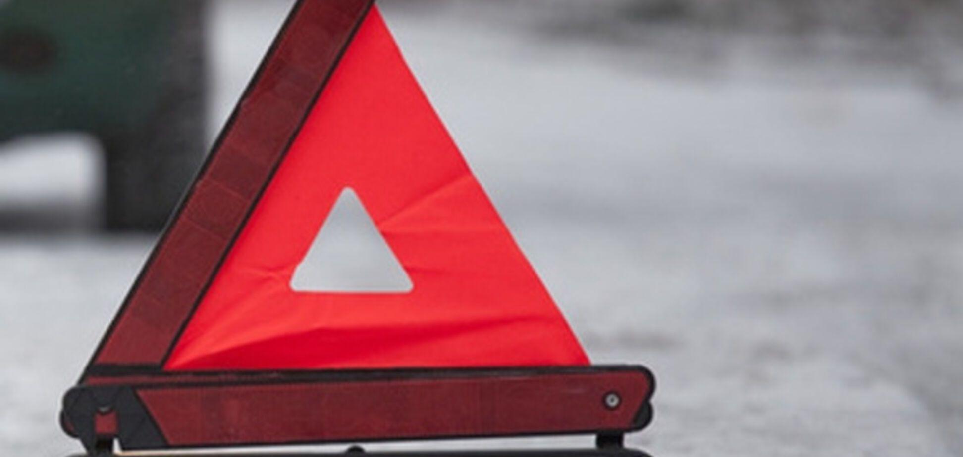 ДТП в Запорожье: 'Мерседес' въехал в маршрутку