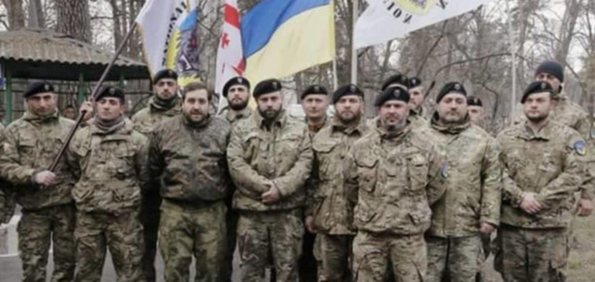 Бойцы \'Грузинского легиона\'