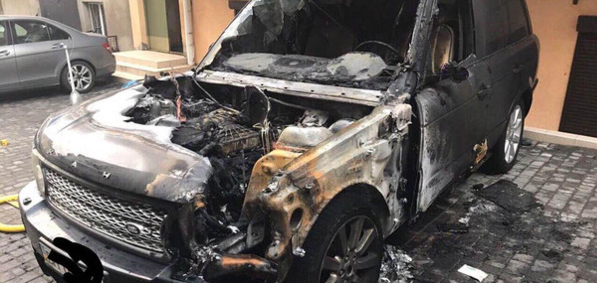 Поджог автомобиля в Одессе