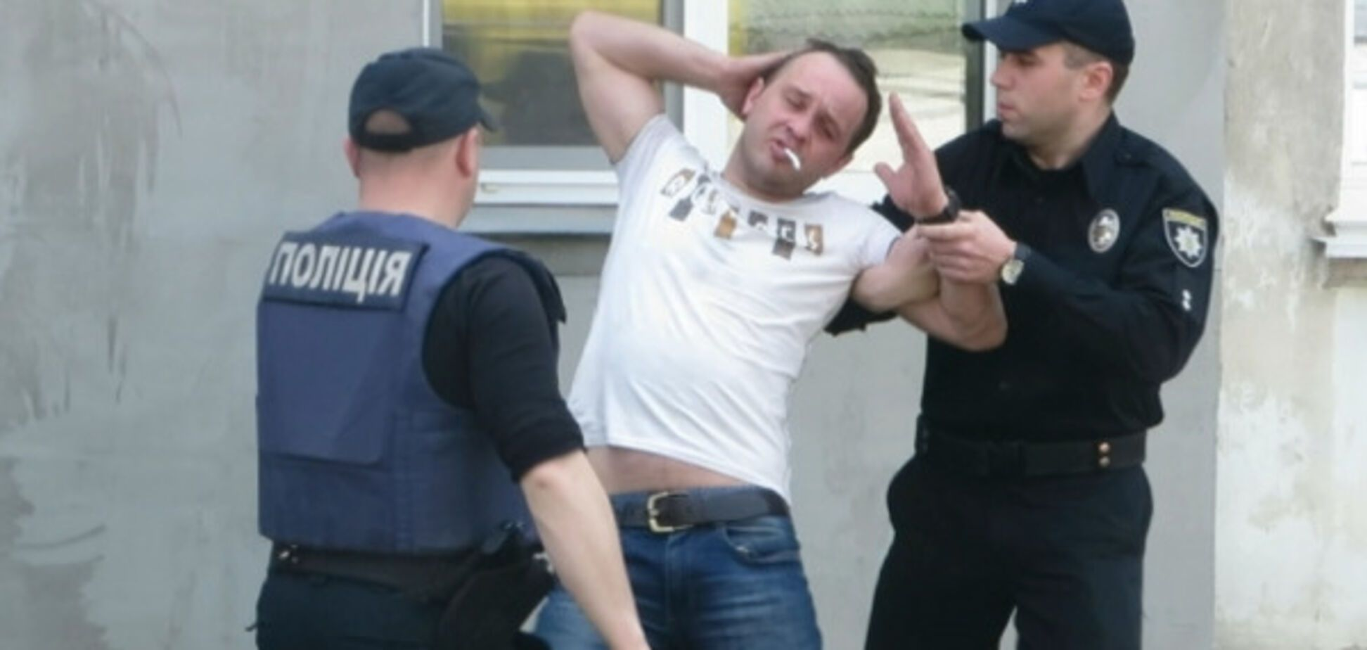 Задержание пьяного водителя в Хмельницком