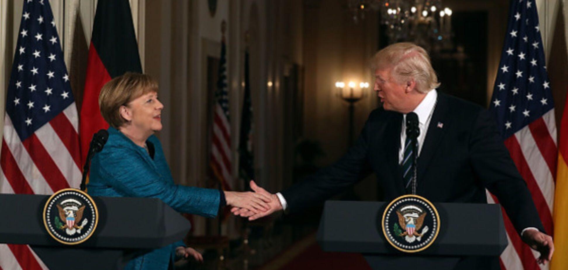Дональд Трамп, Ангела Меркель