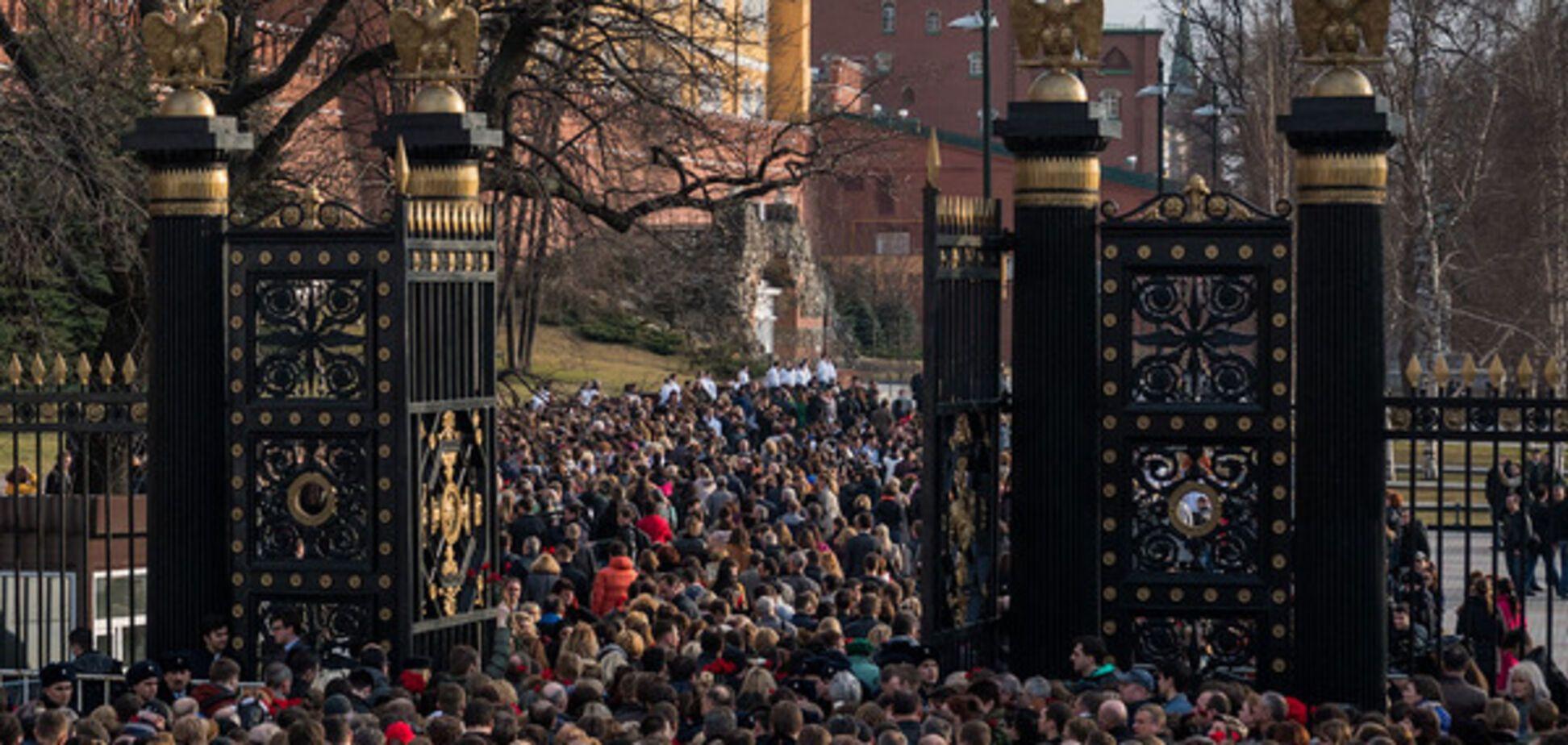 Москва, митинг в память погибших, взрыв в метро в Питере
