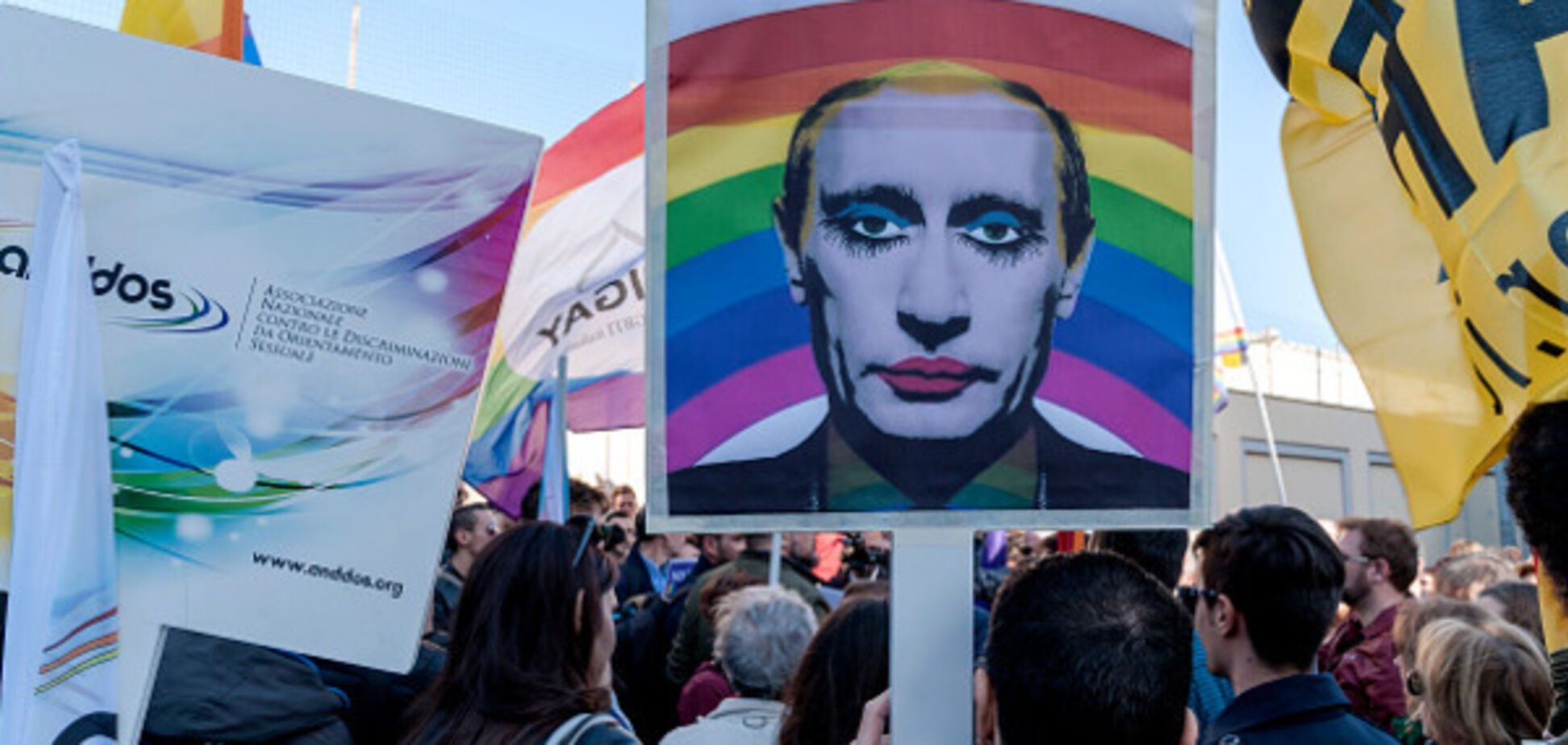 LGBT Demonstration In Front Of The Russian Embassy In Rome