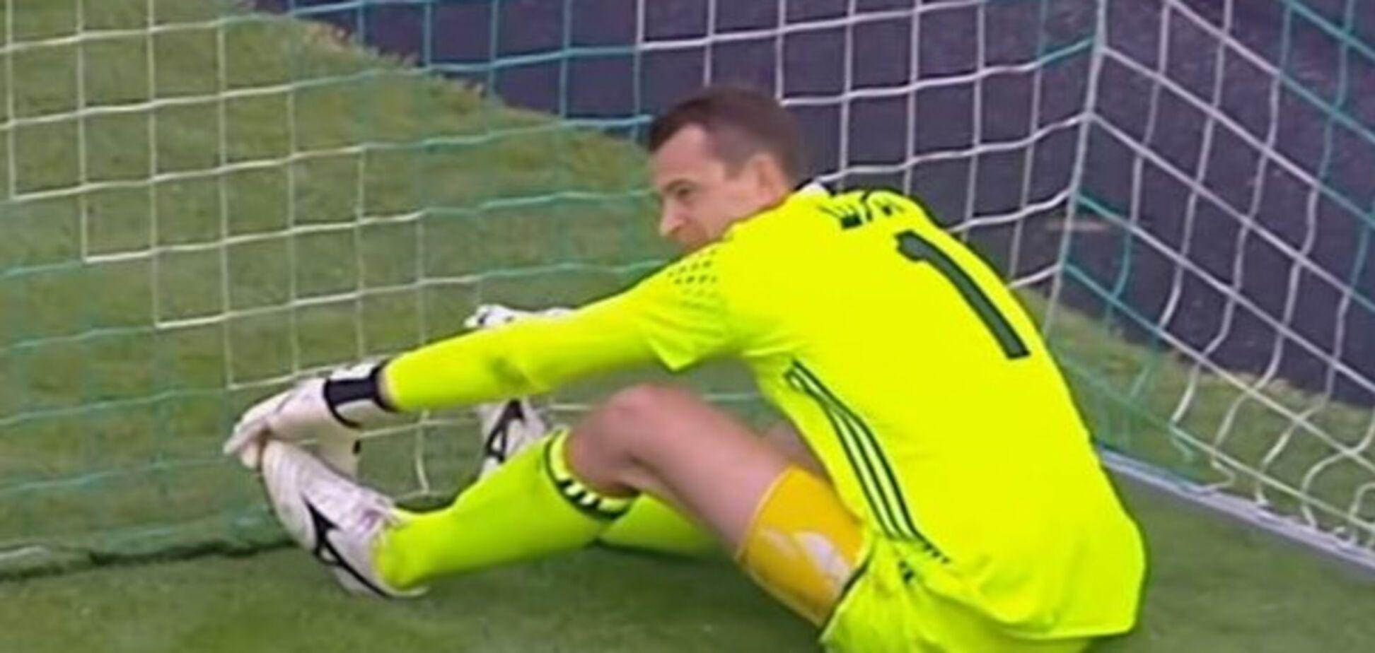Знаменитий український воротар пропустив курйозний гол в УПЛ, позбавивши команду перемоги