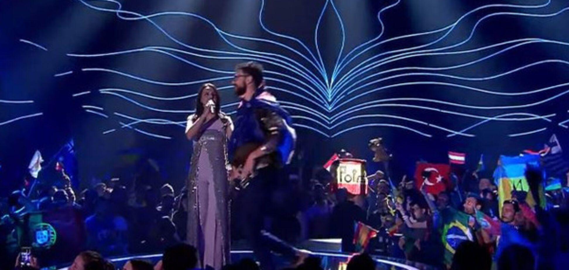 Седюк на сцене Евровидения