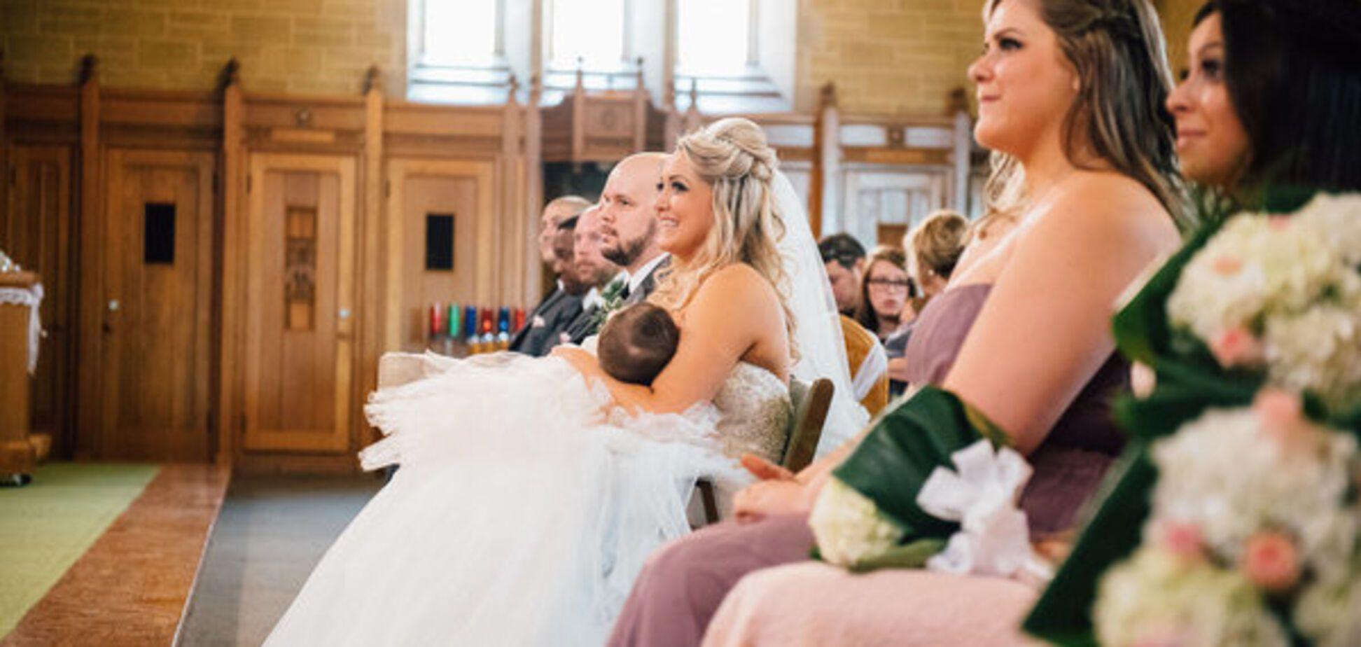 Трогательный фотопроект мам, кормящих грудью в день своей свадьбы