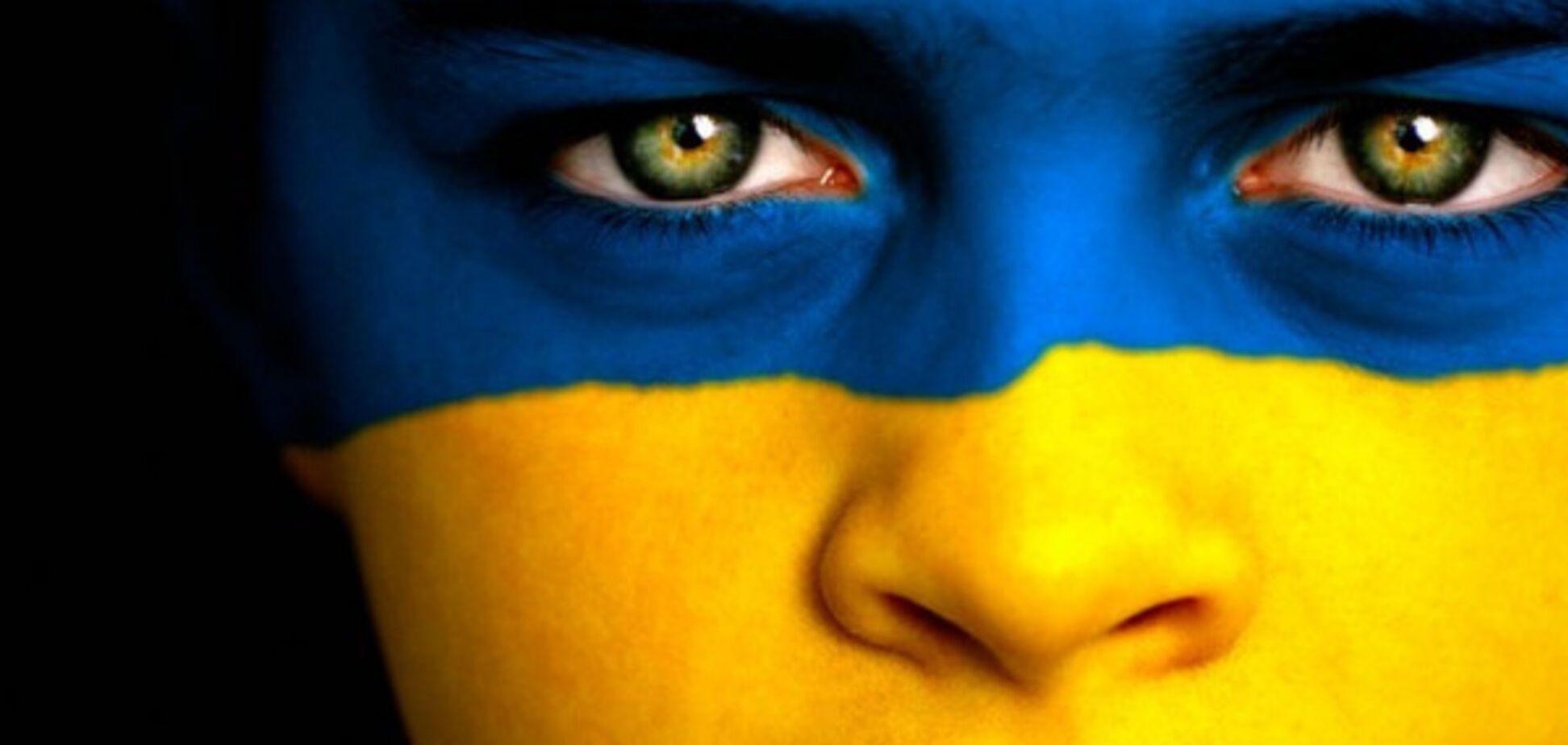 девочка, Украина, цвета флага