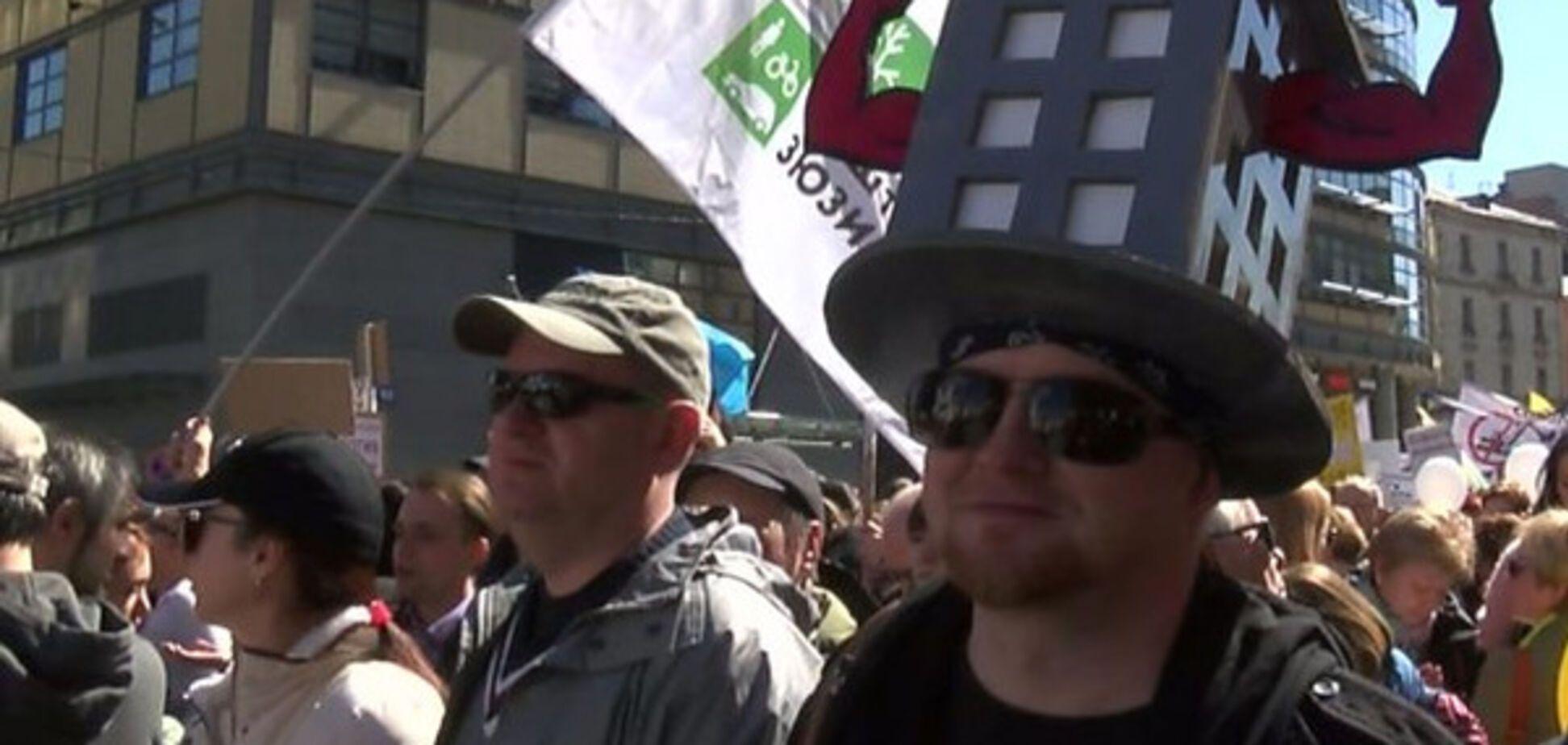 митинг, Москва, реновация