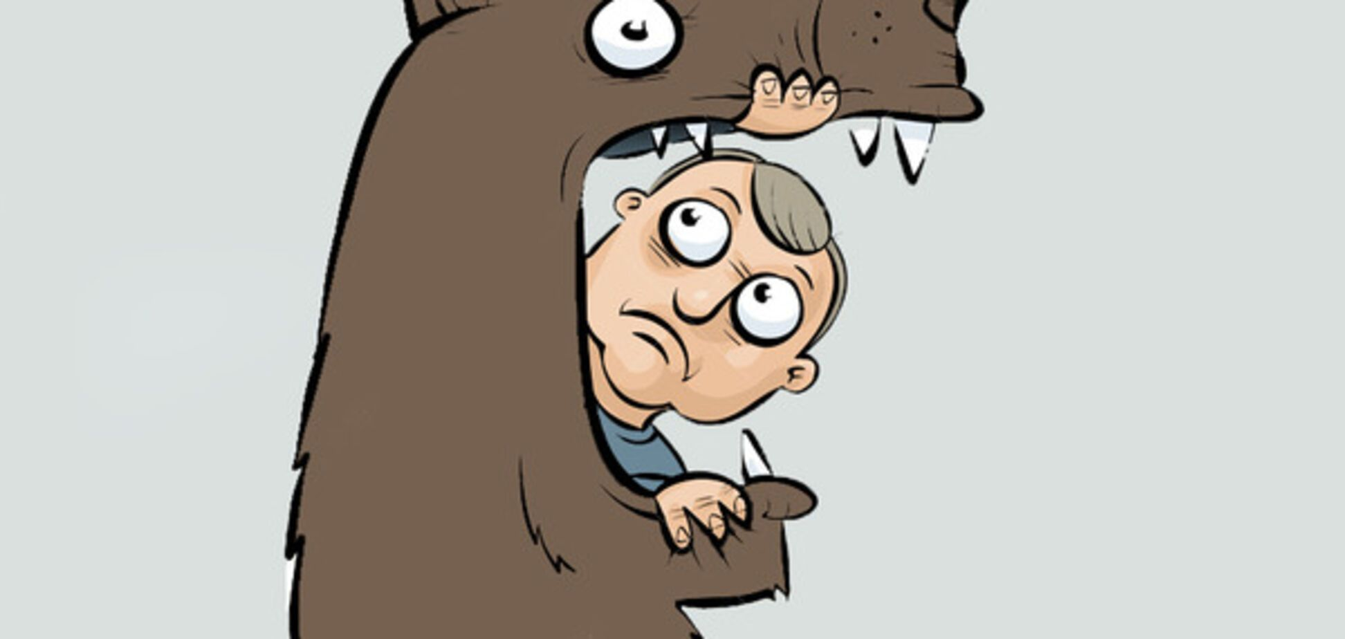 мужчина, медведь