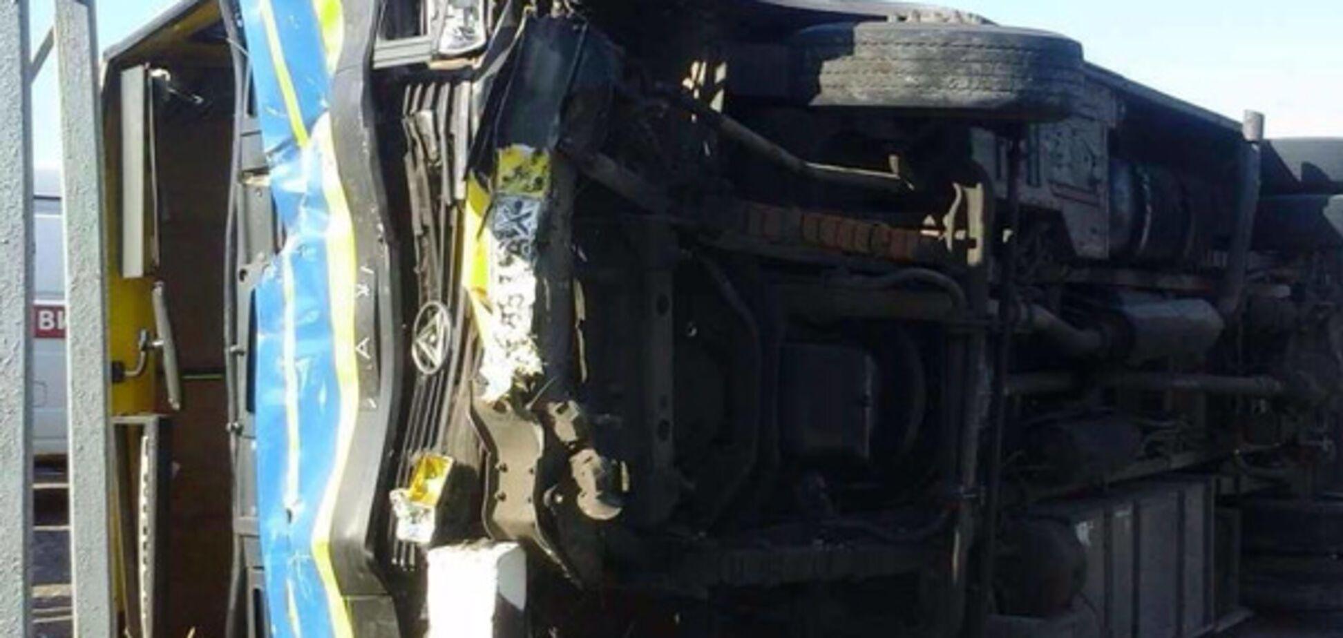 В Запорожской области произошло ДТП, столкнулись автобус с маршруткой