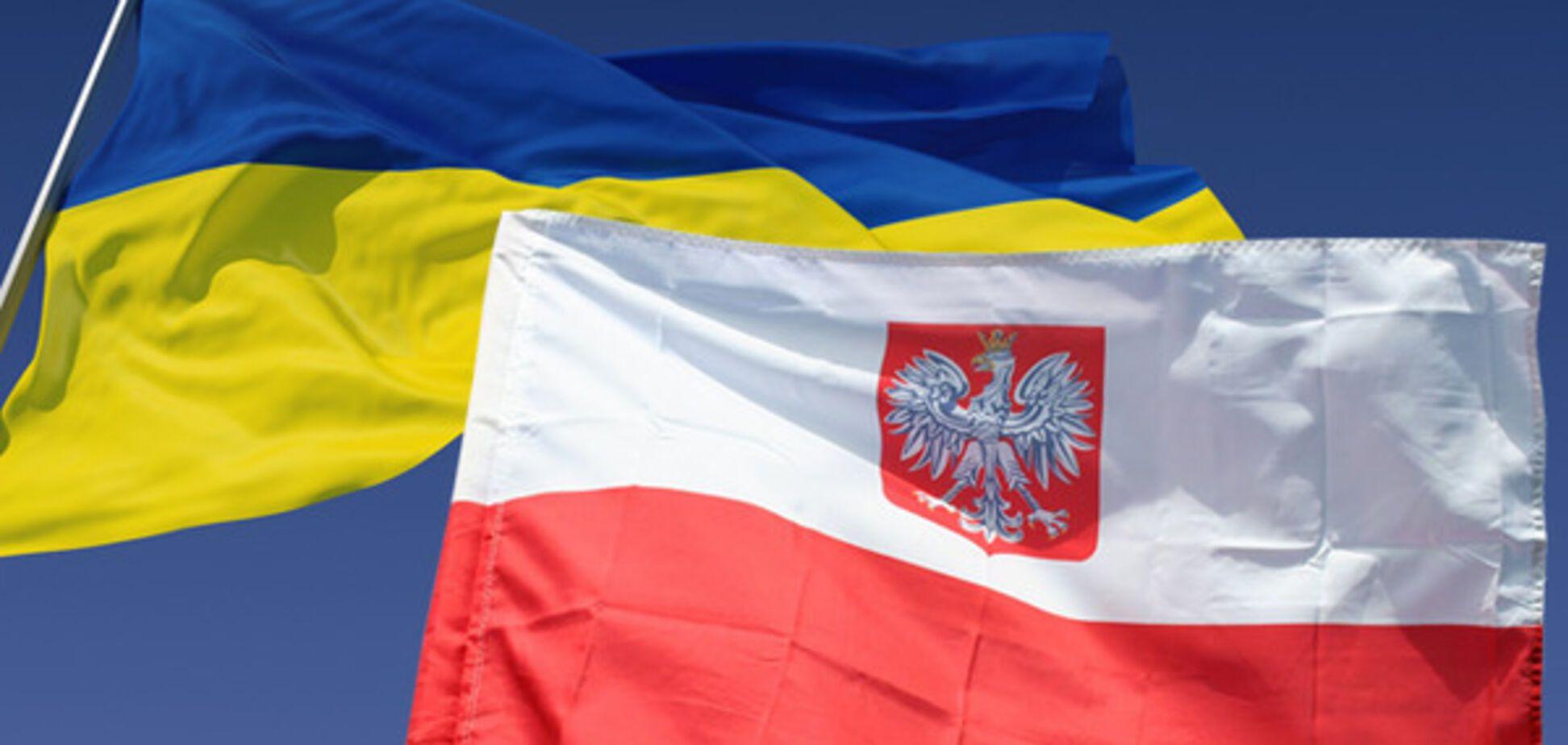 флаги, Украина, Польша