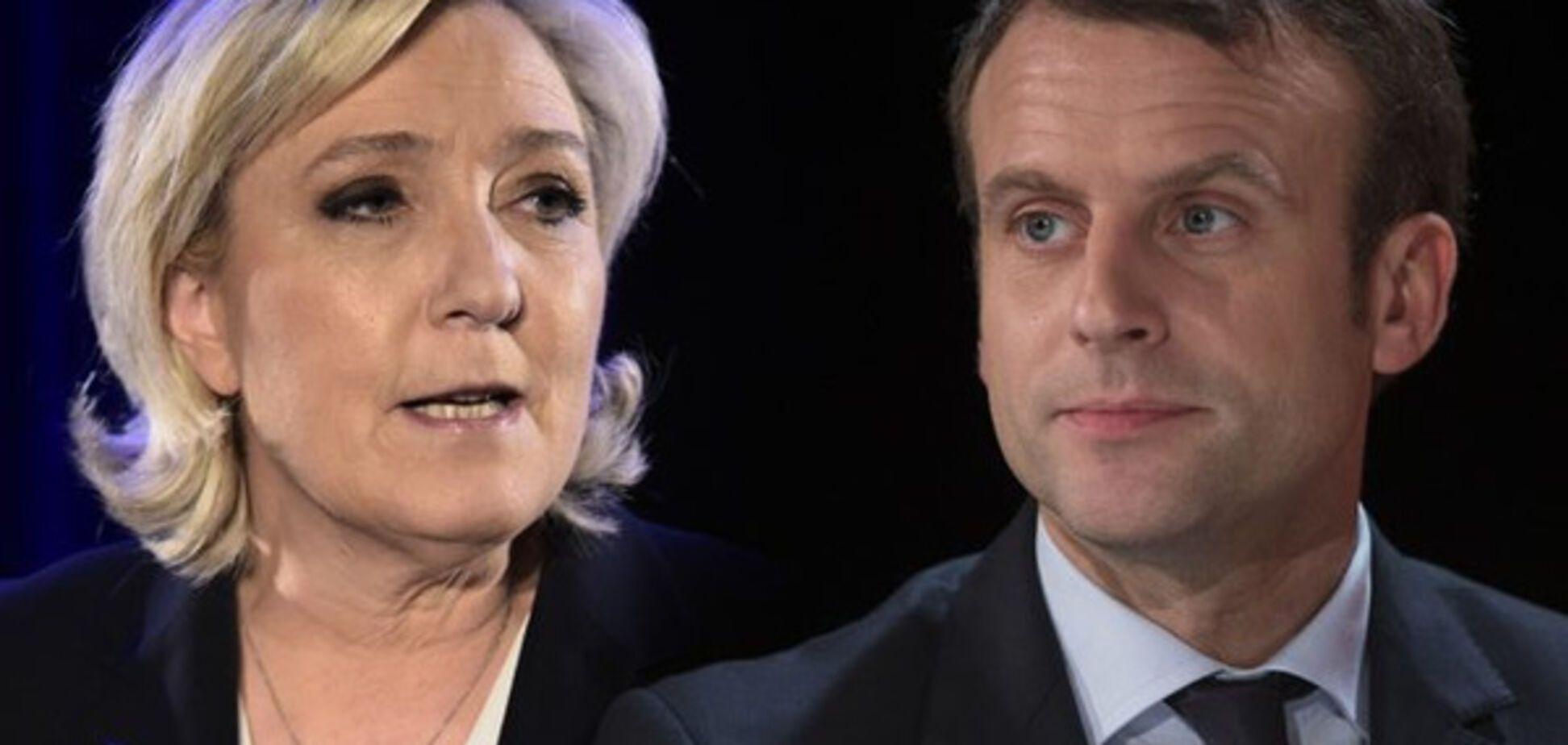 Ле Пен і Макрон