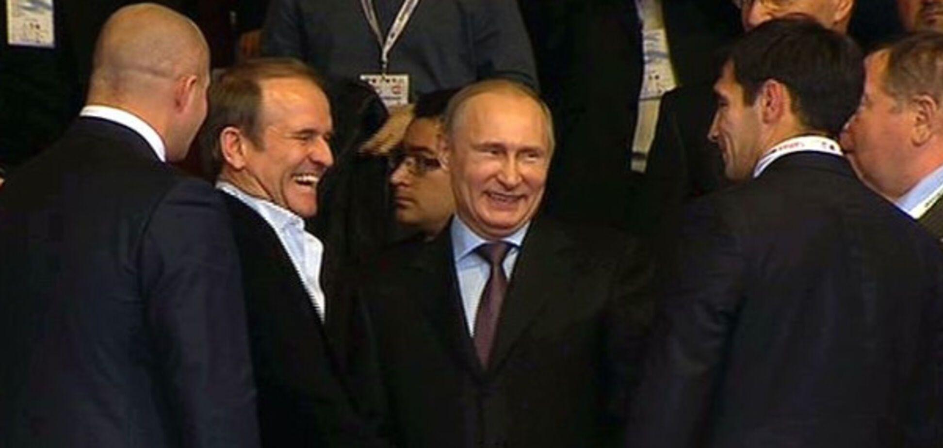 Несмотря на реки крови: Медведчук рассыпался в комплиментах своему куму Путину