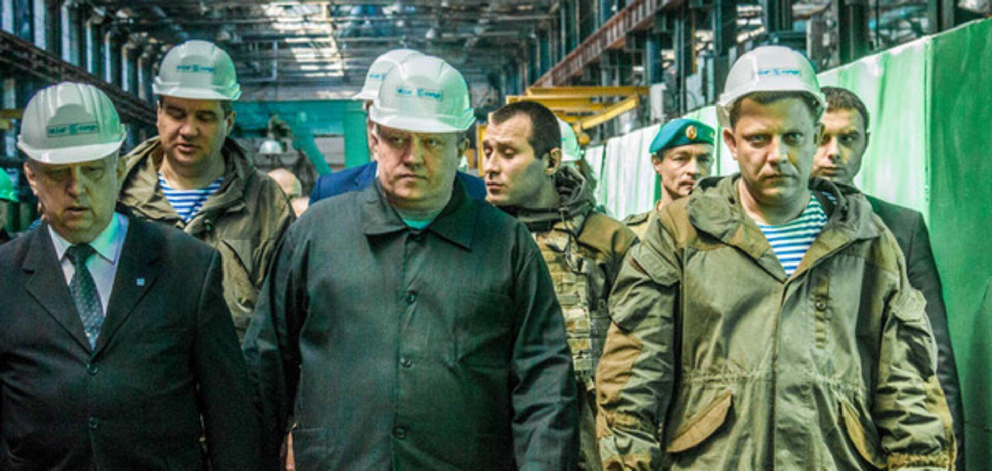Захарченко на заводе