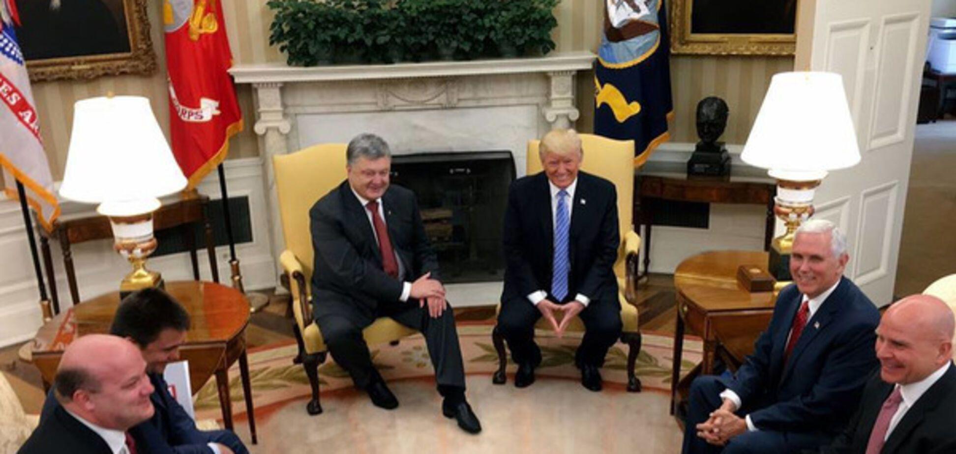 визит Порошенко в США, Трамп
