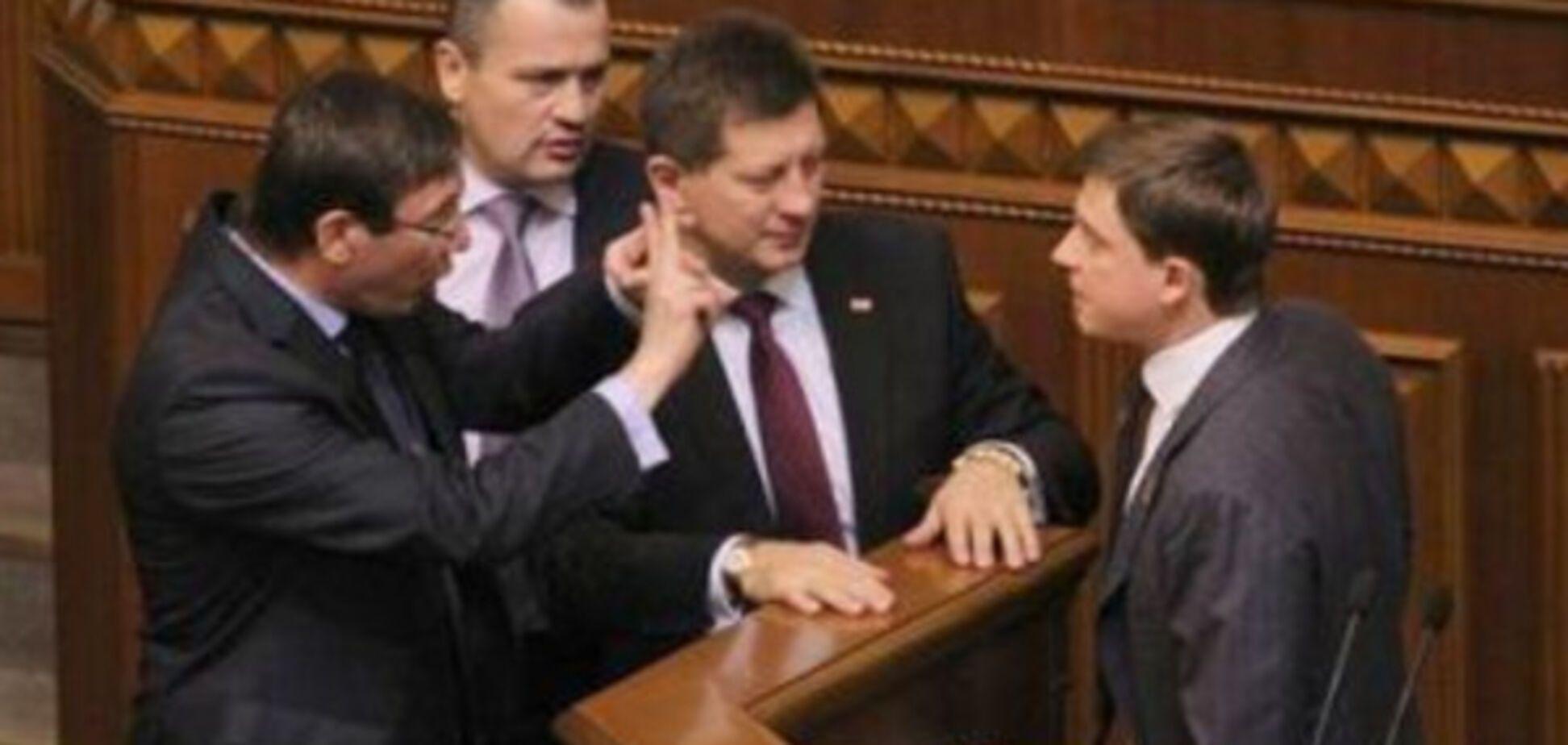 Юрій Луценко та Олесь Довгий