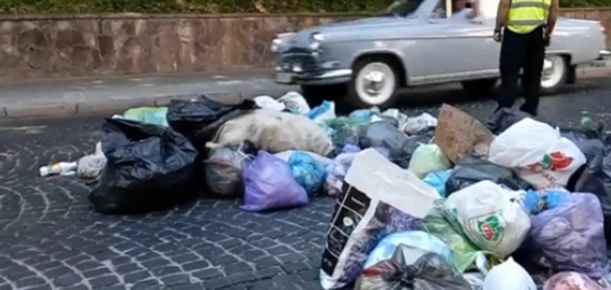 Протест мусора во Львове