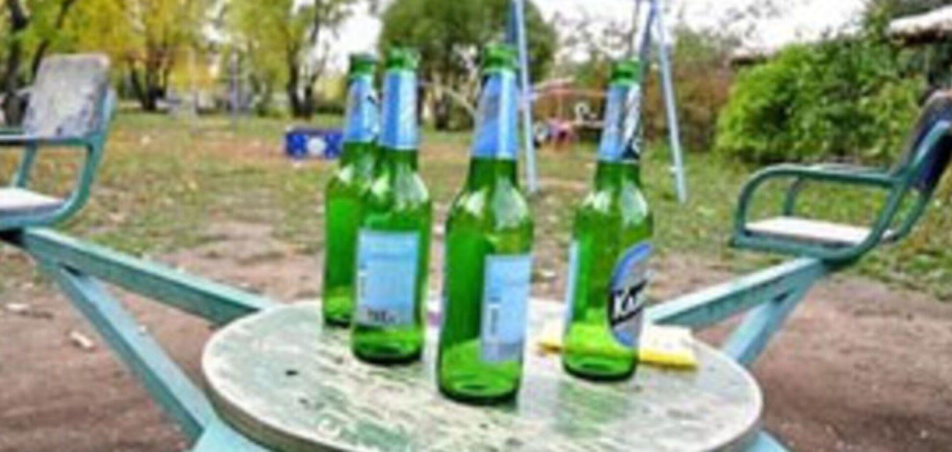 спиртное на детской площадке