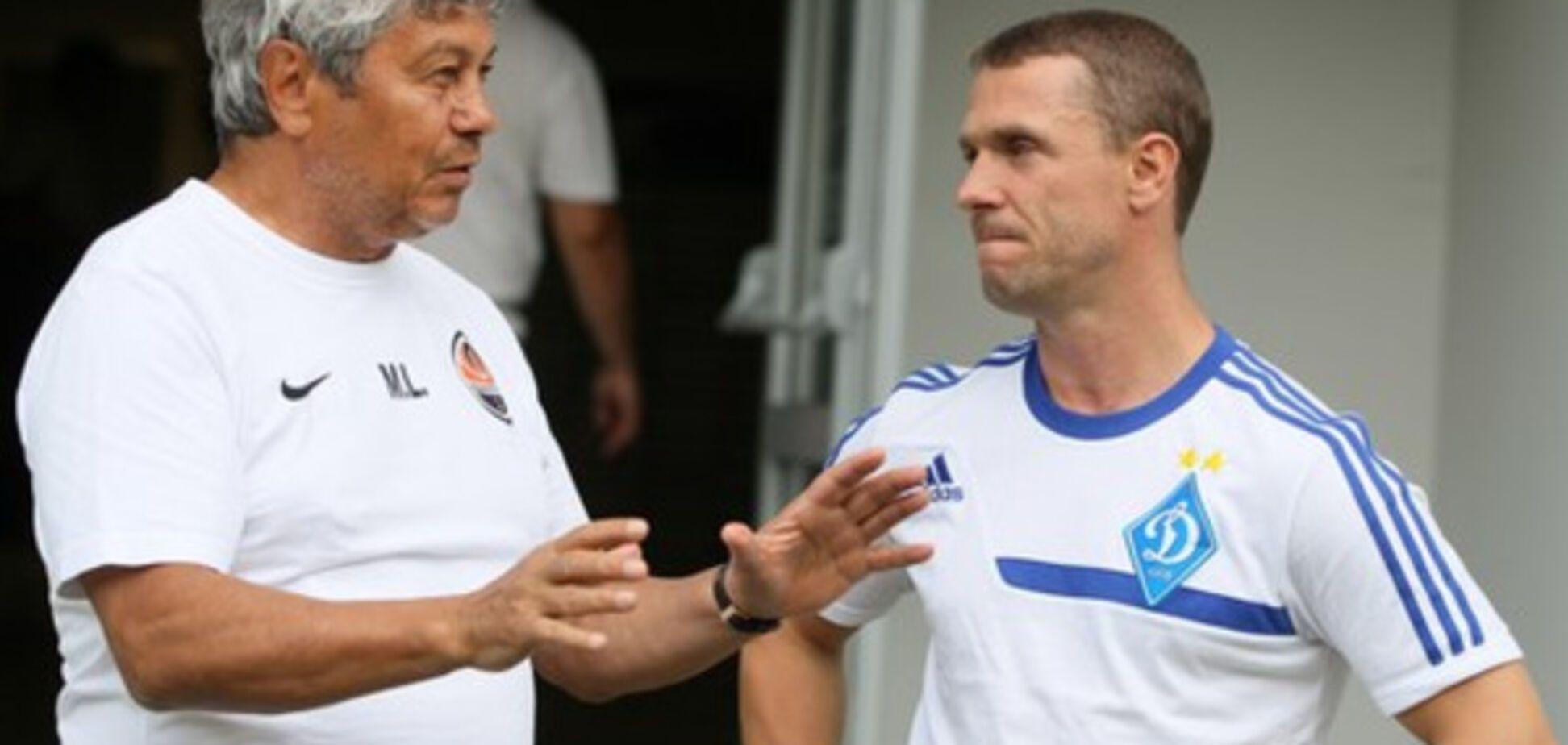 Мирча Луческу и Сергей Ребров