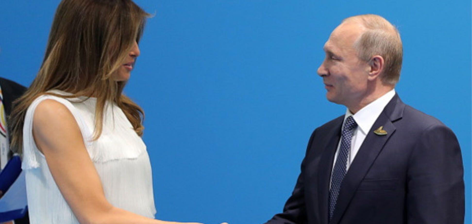 Меланія Трамп і Володимир Путін
