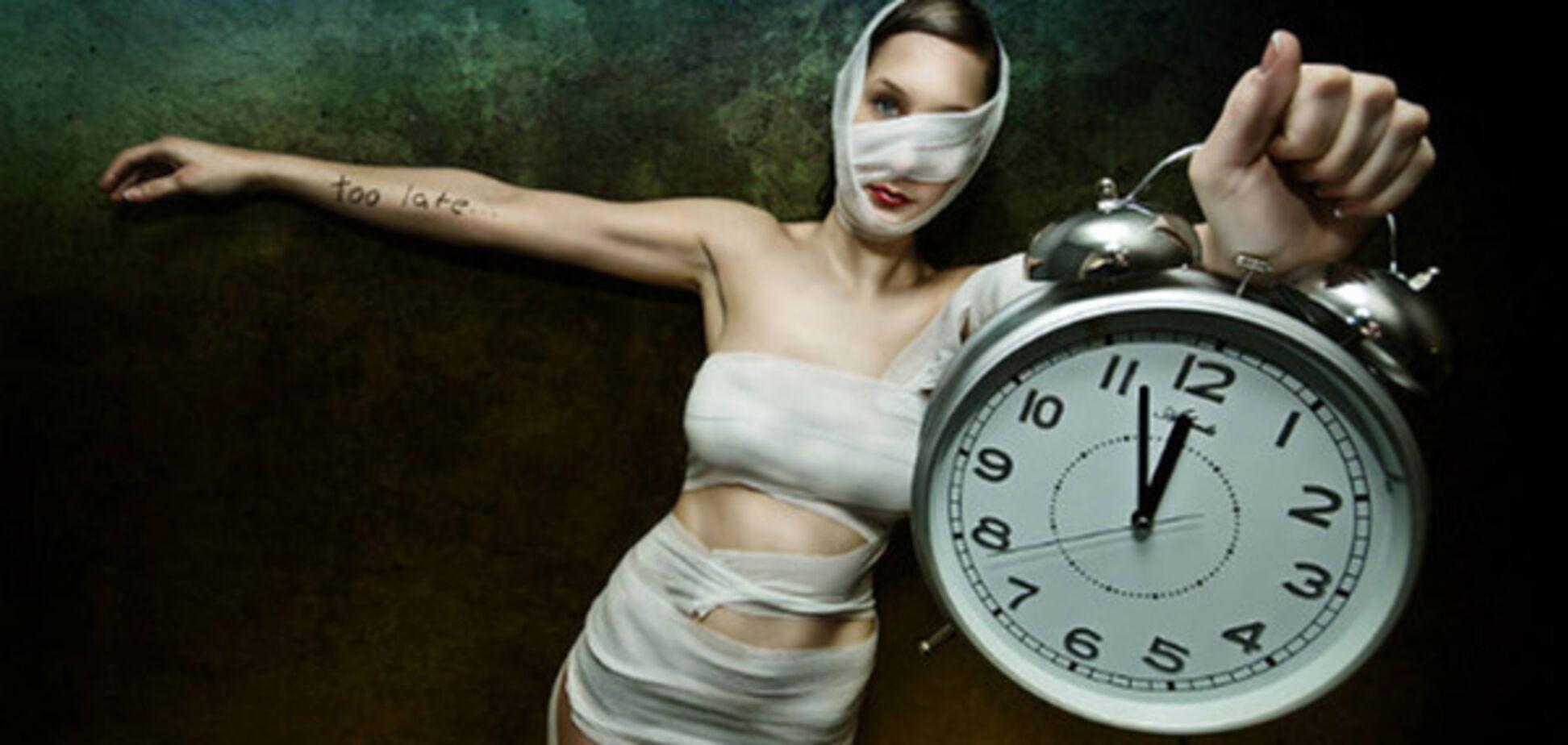 женщина, часы