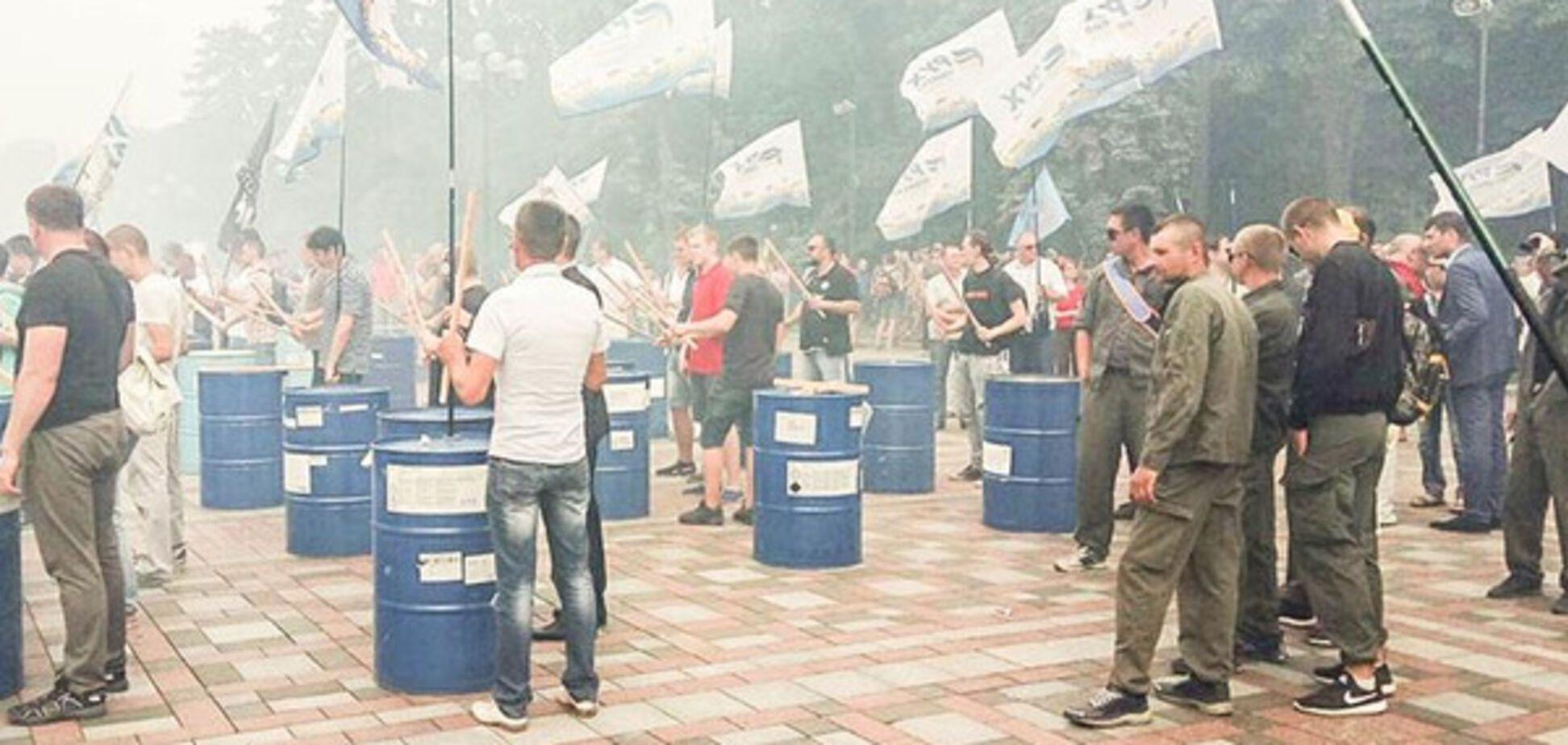 Проти імунітету нардепів: з'явилися фото та відео протестів під Радою