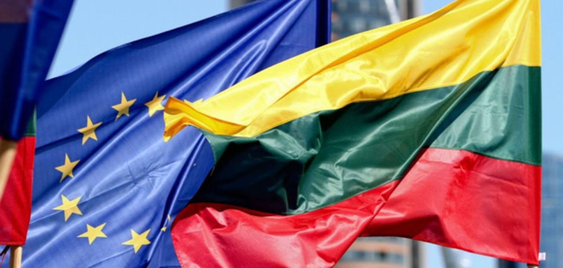 Флаги ЕС и Литвы
