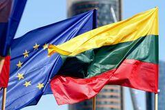 Прапори ЄС і Литви