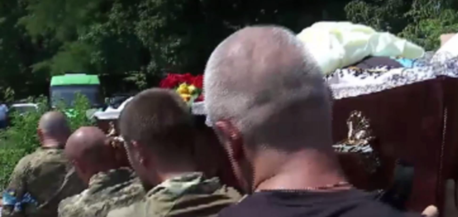 похорони загиблого в Дніпрі АТОшника